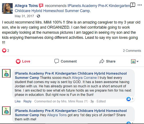 iPLANETS ACADEMY-Allegra Toins Review
