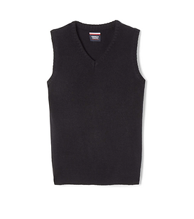 iPLANETS ACADEMY Solid Black Sweater Vest