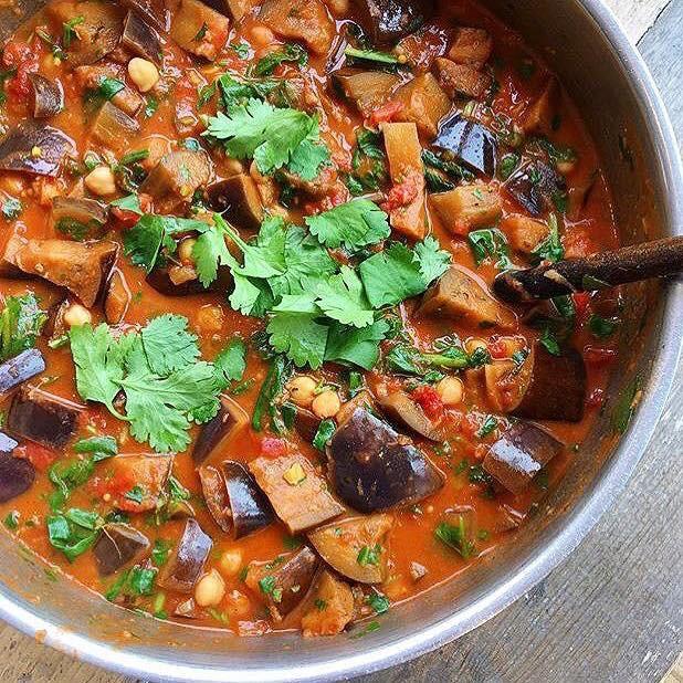 Aubergine & Potato Curry