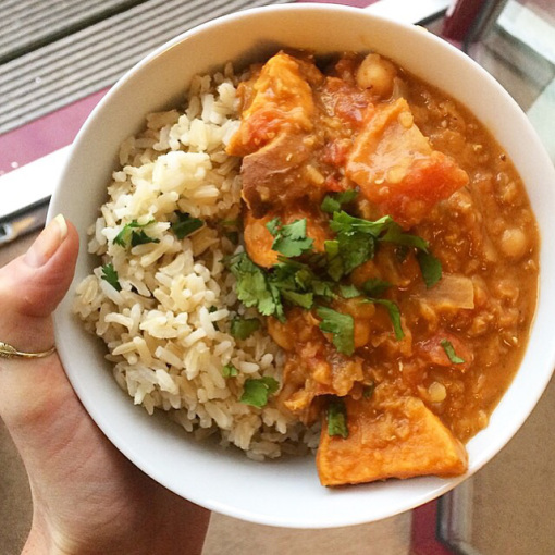 Sweet Potato, Red Lentil & Chickpea Curry