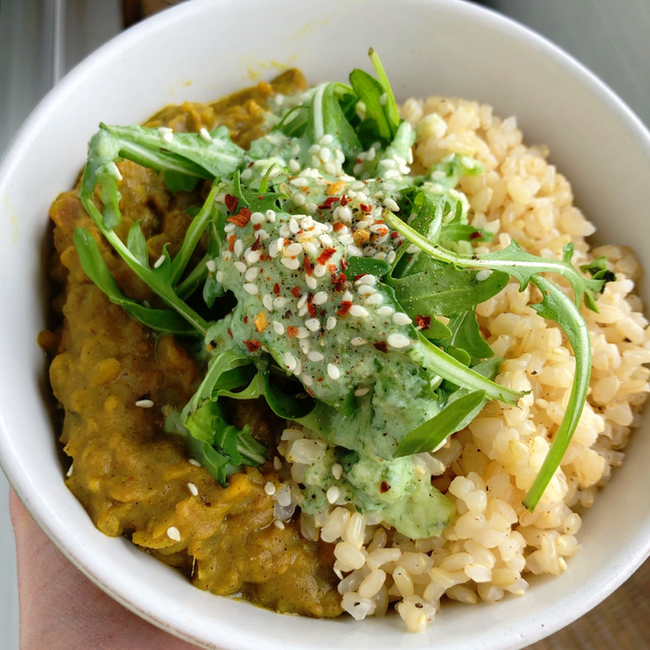 Spring-time Pea Dhal
