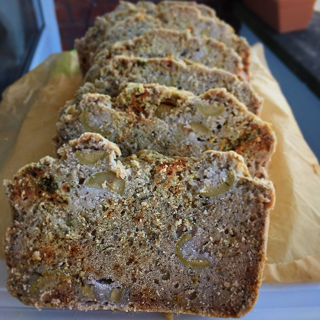 Buckwheat Olive Bread