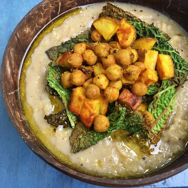 Creamy Cauliflower and Butter Bean Soup