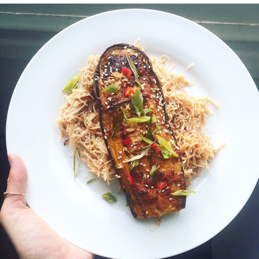Sweet & Spicy Marinated Aubergine
