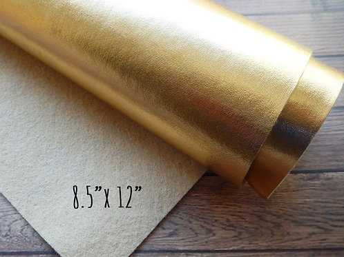 Metallic Gold Felt Fabric Sheet - 8.5 x 12