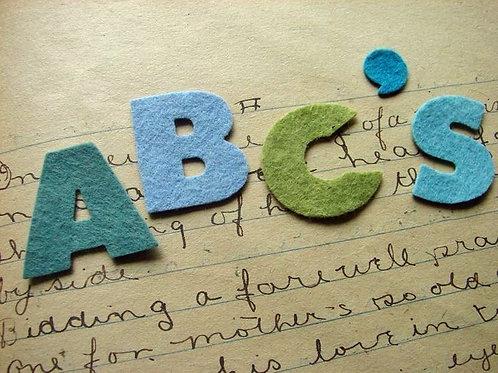 Alphabet Set Chunky Font
