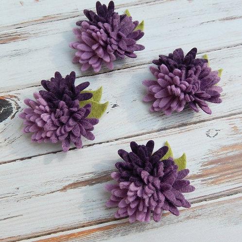Mini Daisies Purples Trio - Set of 4