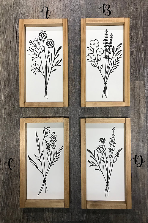 "Botanicals - Farmhouse Decor - Wall Decor - 13.5"" x 11.5"" - Color Options"