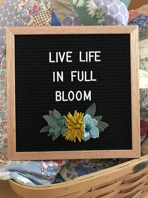 Succulents for Felt Letter Boards