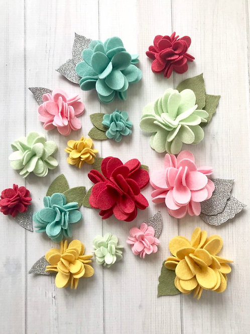 Vintage Color Pom Pom Flowers