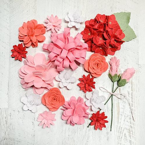 Handmade Felt Flowers Valentine Flower Spring Flower