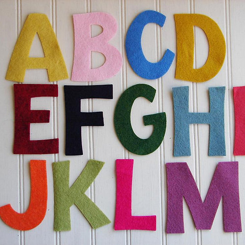 "Upper Case Alphabet Set - 4"" Tall"