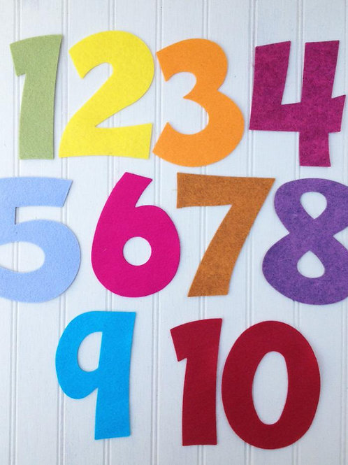 "Number Set Die Cut - 3"" Tall"