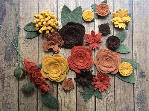 Autumn Flower Embellishment