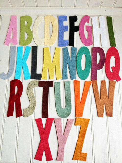"Skinny Alphabet Set - 4"" Tall"