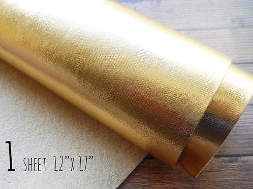 Metallic Gold Felt Fabric Sheet - 12 x 17