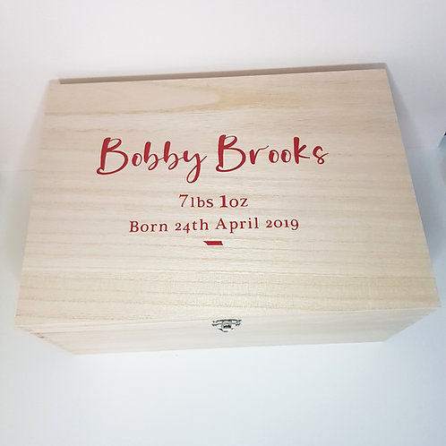 Personalised Keepsake Box Large