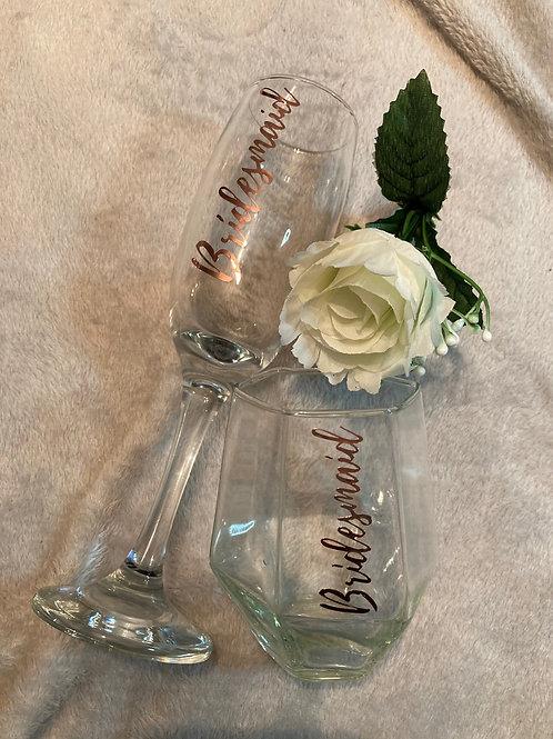 Bridesmaid Flute & Tumbler