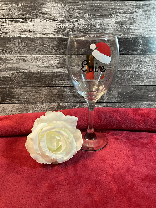 Personalised Christmas Wine Glass