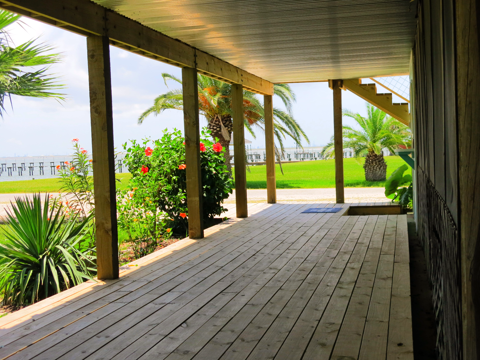 Covered boardwalk