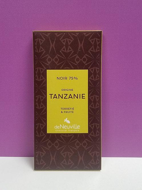 "TABLETTE CHOCOLAT ""TANZANIE"""