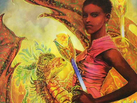 The Courageous Woman - The Nine of Fire