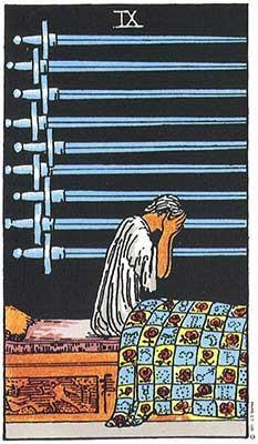 how to manage sleepless nights 9 of Swords Tarot