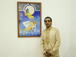 """Inspired by India"": Exhibition of Armenian painter opens in Yerevan"