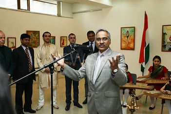 Mr. Ambassador was all praise for the young artist's works