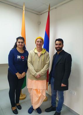Sanatana Goswami Das and Artashes Hovakimyan of the International Society for Krishna Consciousness