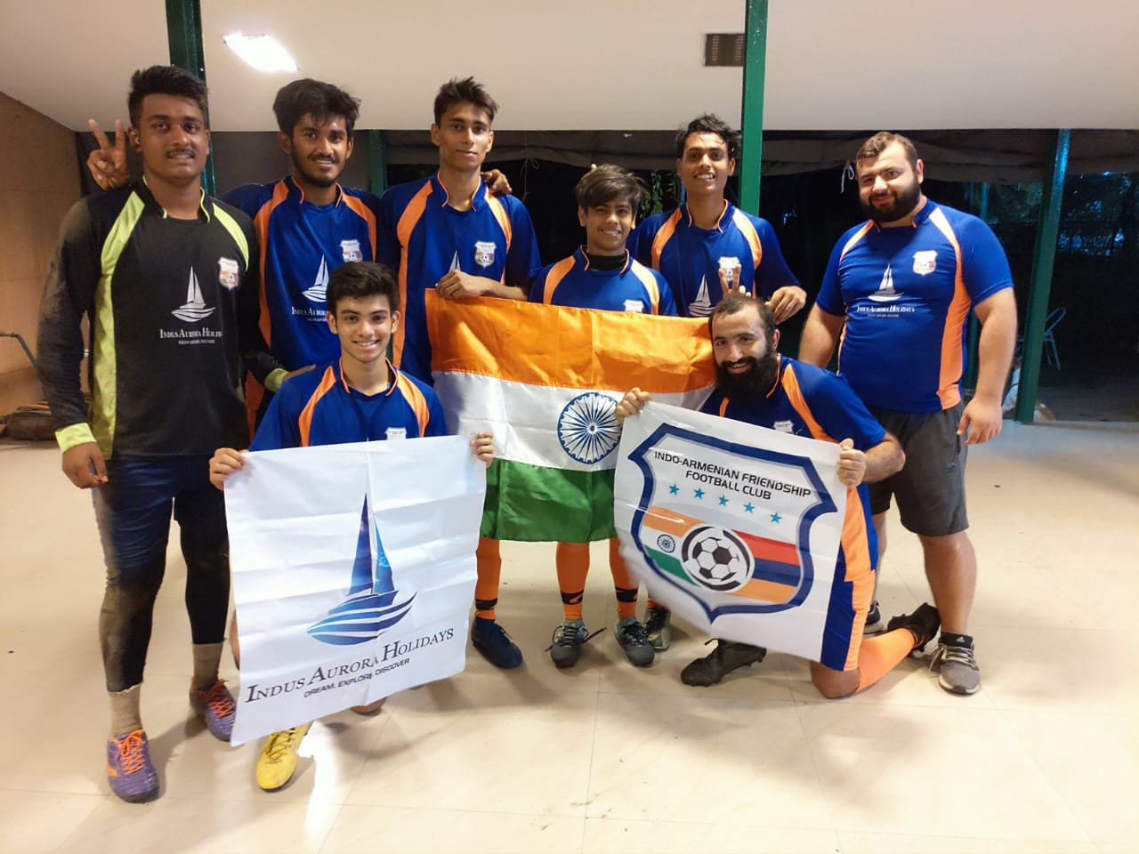 IAF FC with the Indian Flag