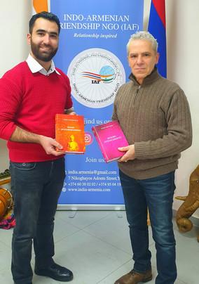 Translator Gevord Vardanyan visits Indian Cultural Centre