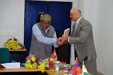 "Ambassador Bal Anand, ""Expressions of Freedom"", Expressions of Freedom, His Excellency Armen Martirosyan, Armenian Embassy in India, Embassy of India in Armenia, India Armenia"