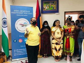Shambhu Amitabh, Embassy of India in Armenia, Indian Cultural Centre, Armenia, Indians in Armenia, Indo-Armenian Relations