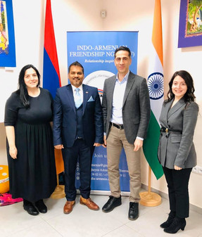 Armen Orujyan of FAST Foundation visits Indian Cultural Center