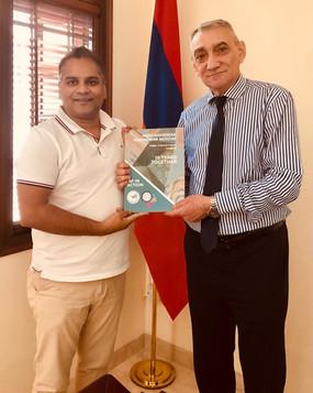 IAF Co-Founders Call on Armenian Ambassador to India