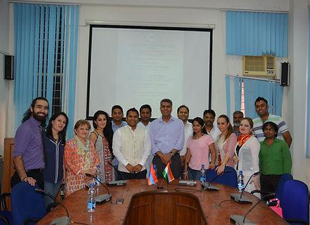 Ambassador Designate Mr. Yogeshwar Sangwan with IAF members
