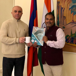 IAF President bids farewell to His Excellency, outgoing Ambassador of Armenia to India.