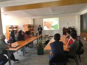 Indo-Armenian Friendship NGO's Programs Coordinator Mr Karen Mkrtchyan attends discussion dedica