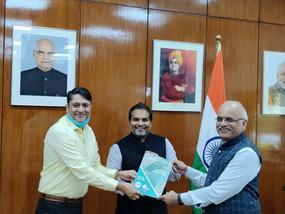 IAF President Mr. Rananjay Anand called on Dr. Vinay Sahasrabuddhe, President, ICCR