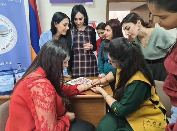 Mehndi Armenia, Indian Cultural Centre Armenia, Indians in Armenia