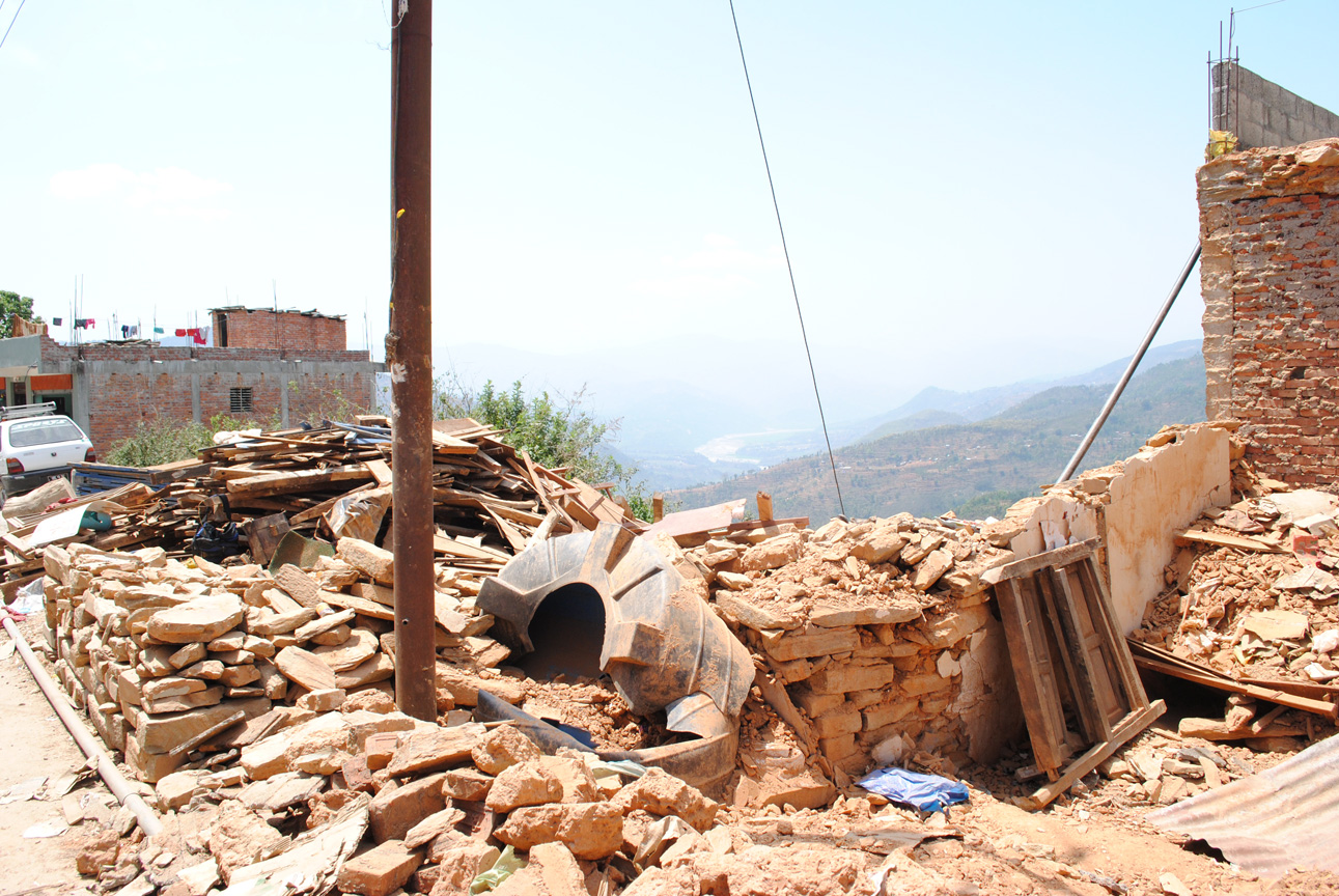 Earthquake damage, Nepal
