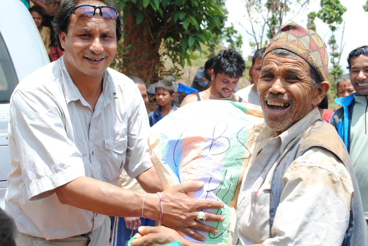 Supply relief being received