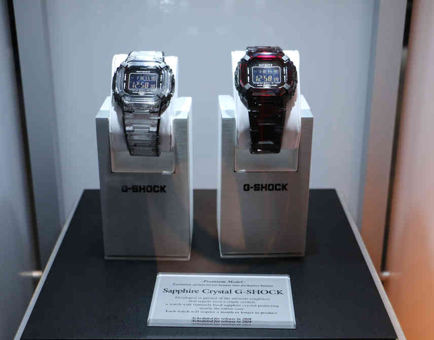 The first-ever, sapphire crystal G-SHOCK.
