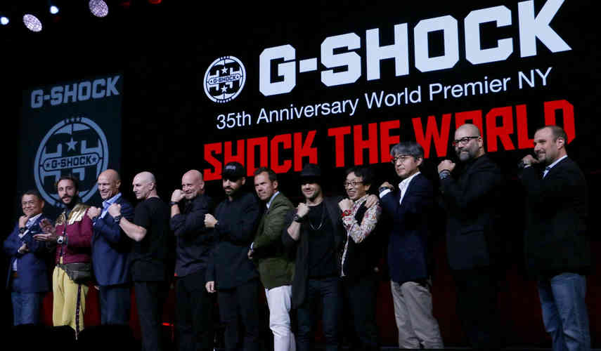G-Shock Athlete, Louie Vito, RedBar Group Founder Adam Craniotes, Author and Conde Nast Traveler Editor, Matt Hranek, KITH Owner, Ronnie Fieg, and other friends of the brand also joined executives onstage.