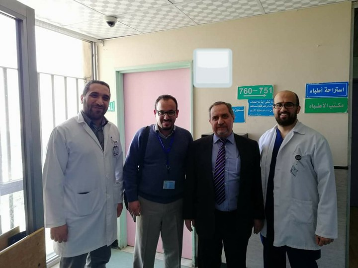Prof. Hashem Al-Momani with his team 12 Jan. 2018