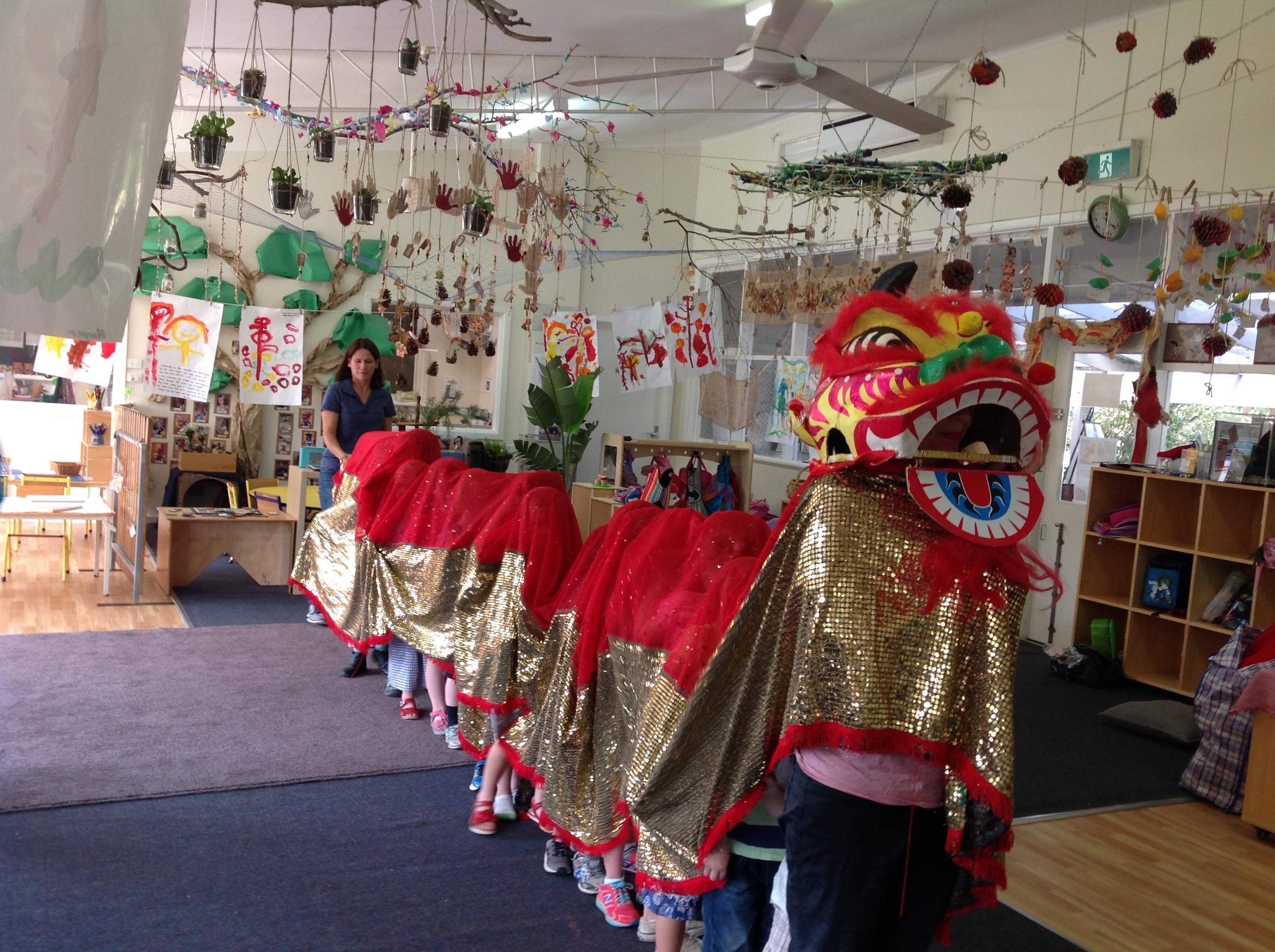 chinese dragon visit