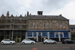scaffold underway
