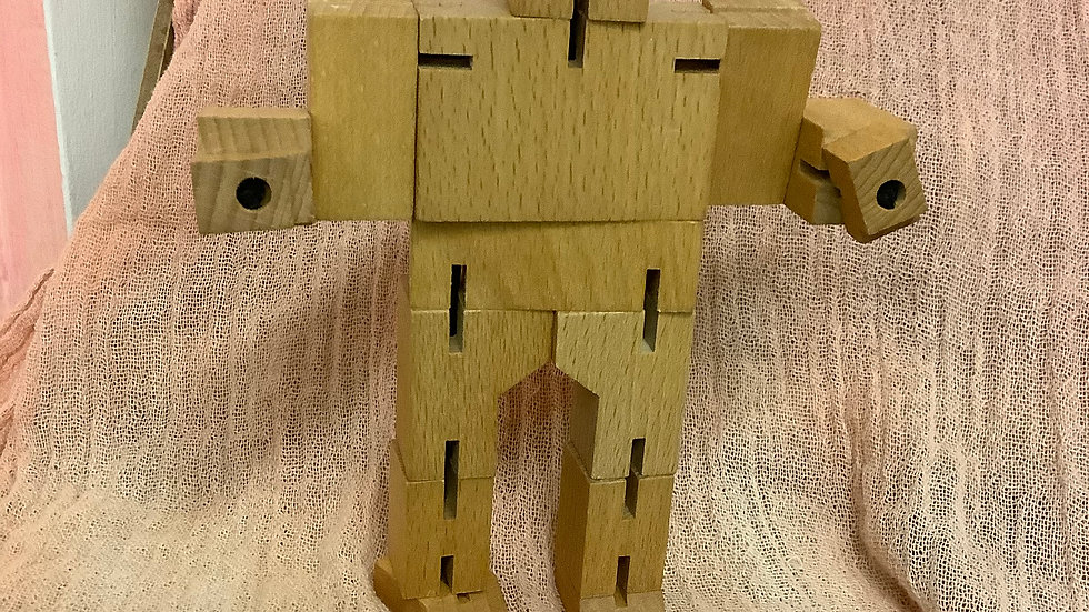 wooden bendy robot