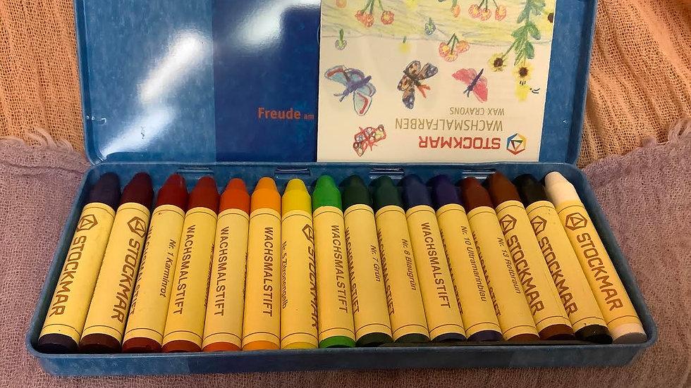 Stockmar 16 ct stick crayons